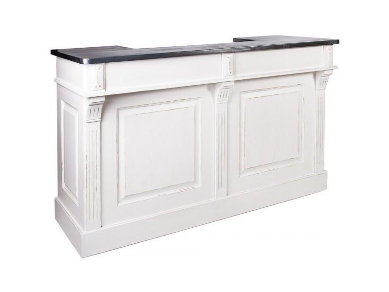 meuble bar pin massif harvey l 180 x p 65 x h 108 cm. Black Bedroom Furniture Sets. Home Design Ideas