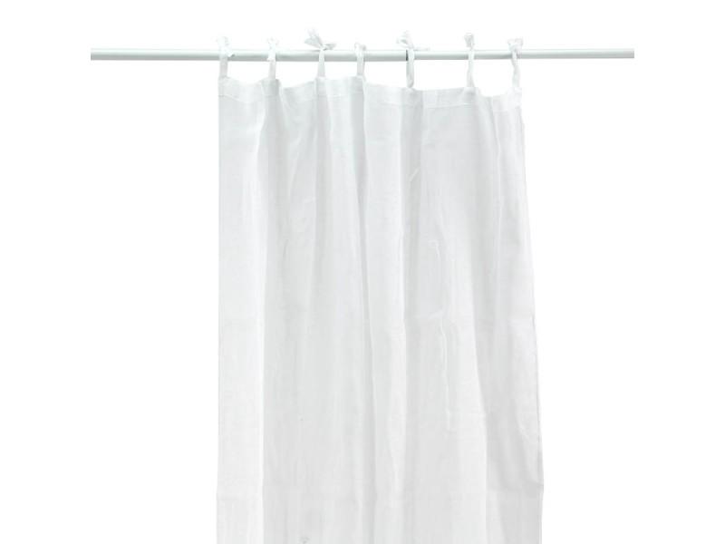 First - voilage en coton à pattes blanc 105x250