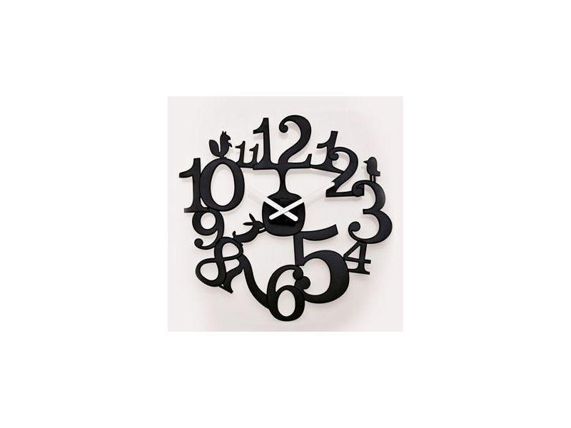 Horloge murale design pi:p - noir - 45 cm