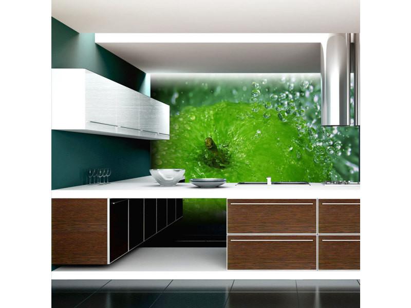 300x231 papier peint motifs de cuisine stylé pomme verte
