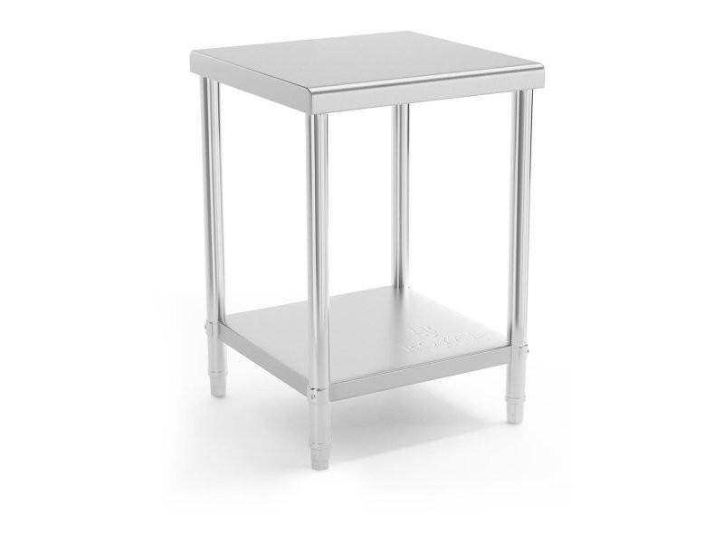 Table de travail cuisine professionnelle acier inox 60 x 60 cm capacité de charge de 150 kg helloshop26 14_0003662