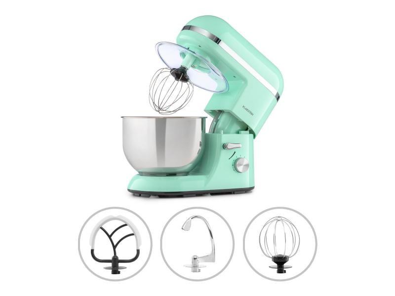 Klarstein bella elegance - robot de cuisine 1300w, bol mélangeur inox 5l, 6 vitesses - vert