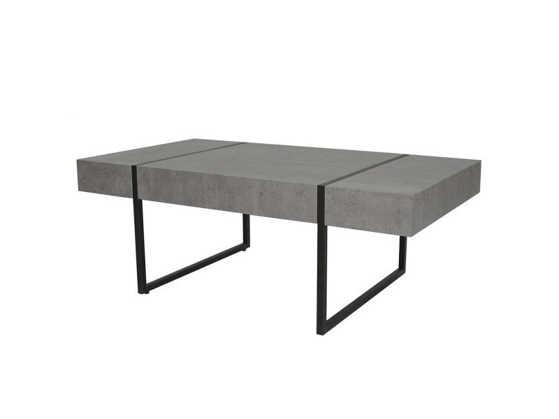 table basse oslo bois effet b ton gris vente de ego. Black Bedroom Furniture Sets. Home Design Ideas