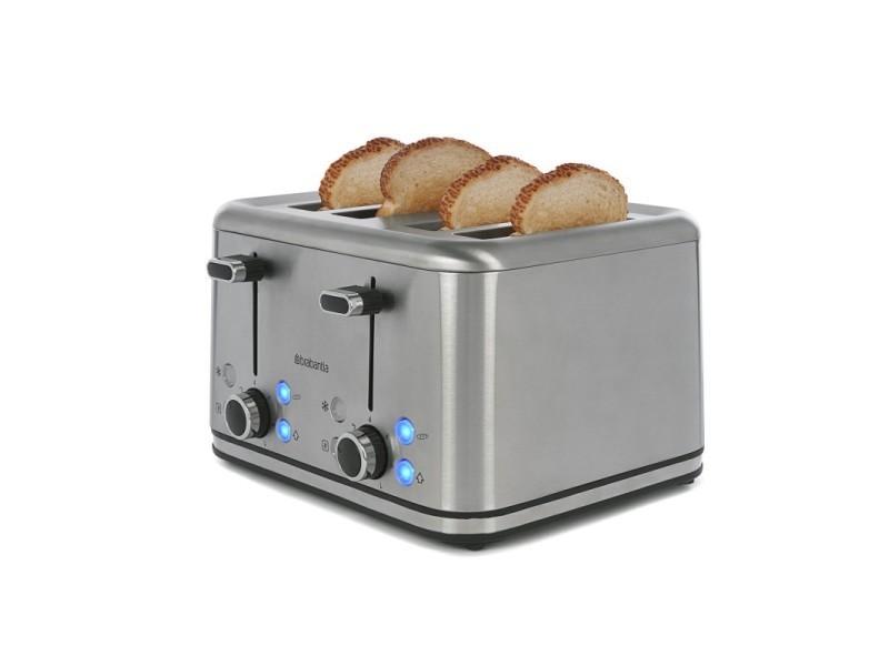 Brabantia bbek1031n grille pain - toaster - 4 fentes - design de luxe - gris / inox BBEK1031N