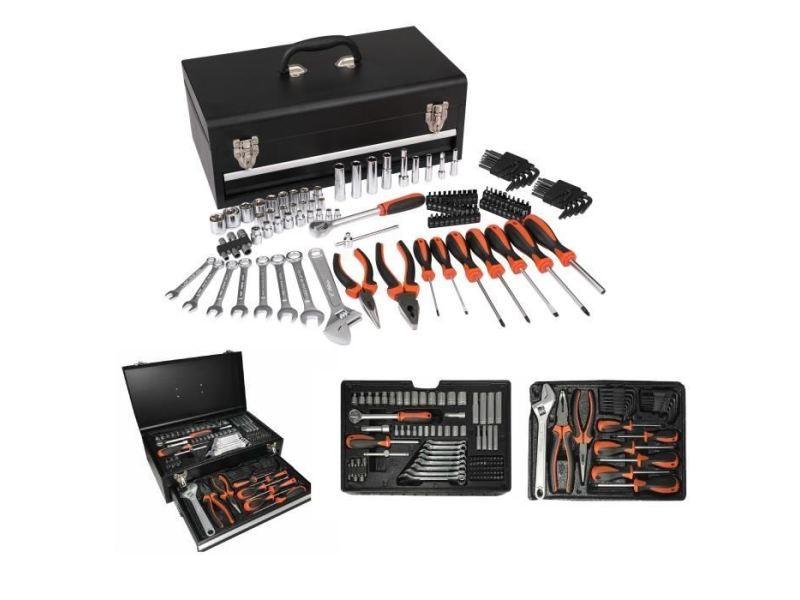 Coffret outillage caisse a outils mécaniques - 129 outils et accessoires