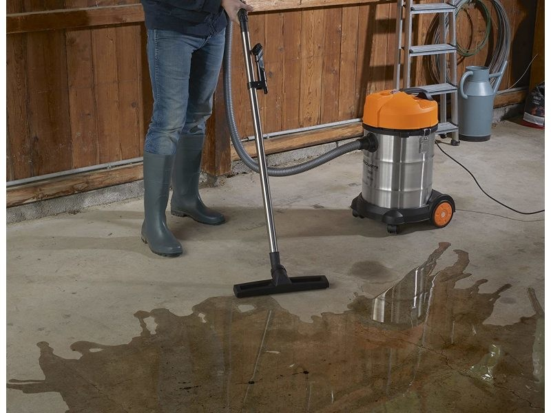 Aspirateur multifonctions de 30l pour eau et poussières 1500w orange gris noir