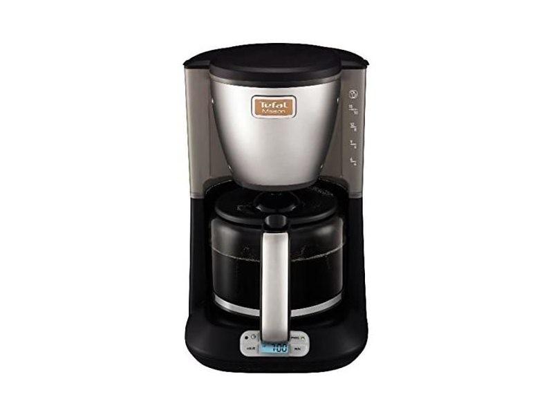Cafetière électrique programmable de 1,25l pour 10 a 15 tasses 1000w gris noir