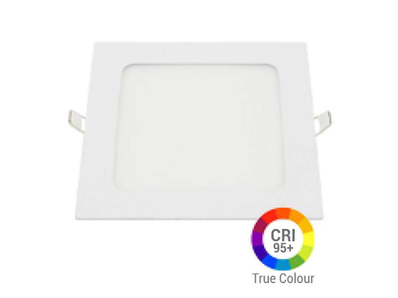 Plafonnier led carré 12w extra plat encastrable irc95 - blanc chaud 2700k DL2619