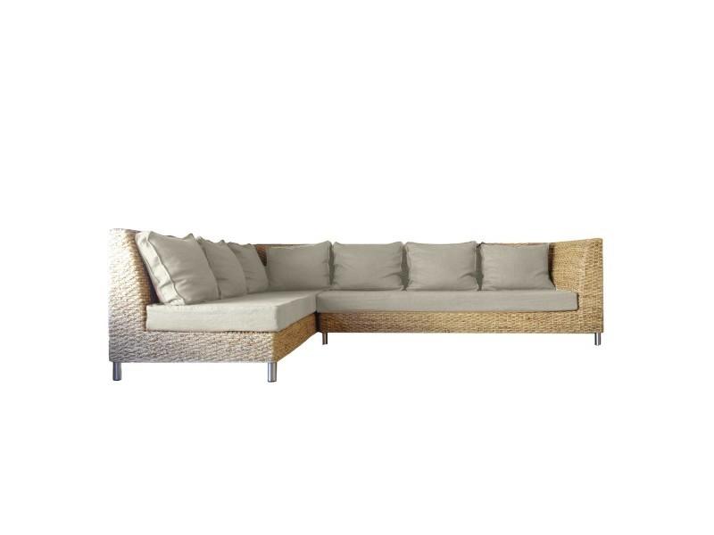 canap d 39 angle convertible lin bio vente de onature conforama. Black Bedroom Furniture Sets. Home Design Ideas