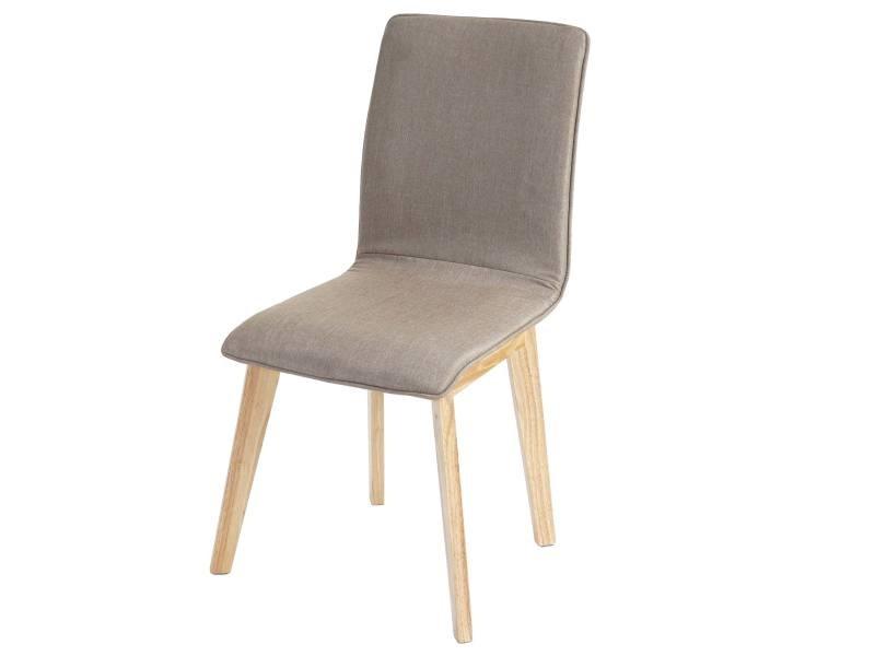 2x chaise de salle à manger zadar, fauteuil, design rétro des années 50, tissu ~ marron avec couture