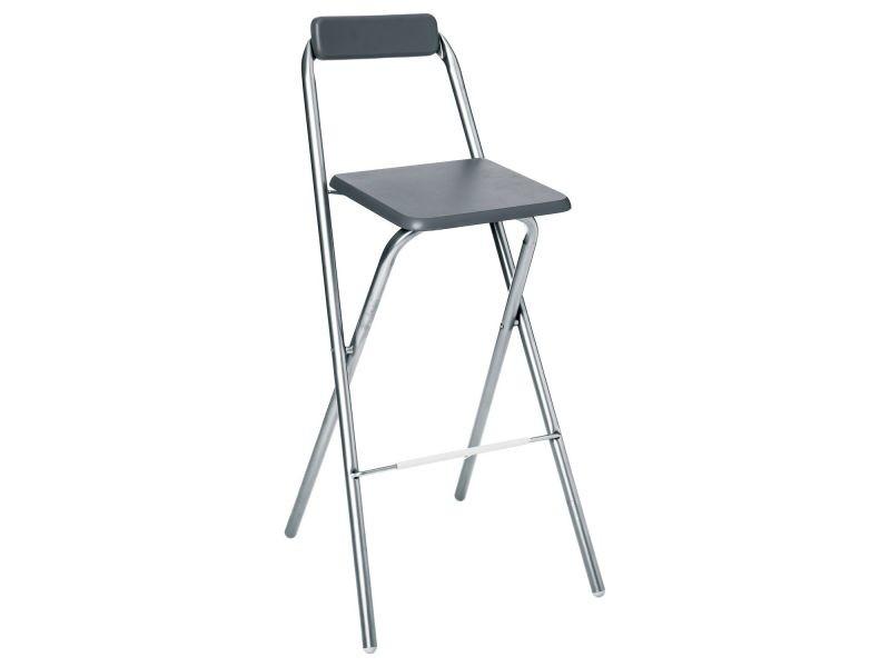 Chaise de bar pliante louna - gris - Vente de Chaise de cuisine - Conforama 664a27f9b70d