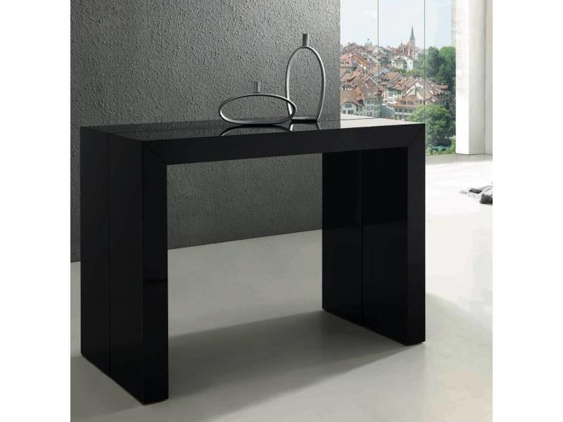 Table console nassau xl laquée noir vente de menzzo conforama