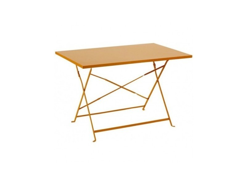 Table de jardin pliante camargue - 110 x 70 cm - orange - Vente de ...