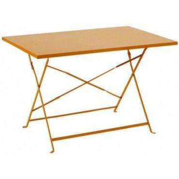 Table et chaises de jardin orange | Conforama