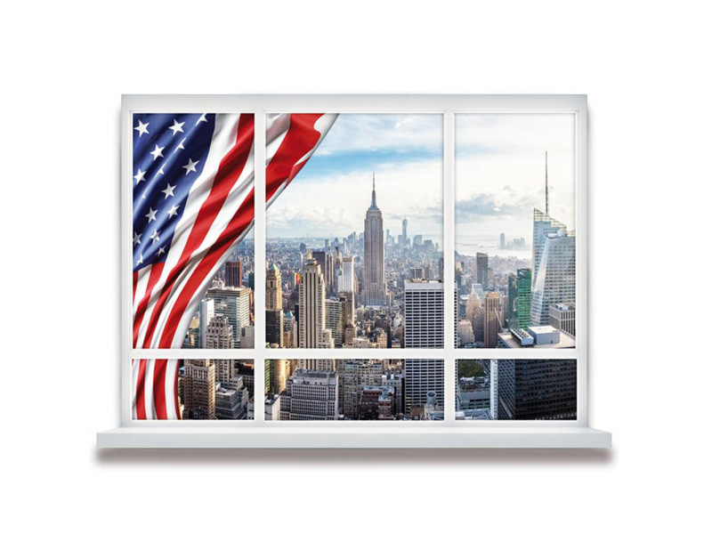 Sticker mural new york drapeau