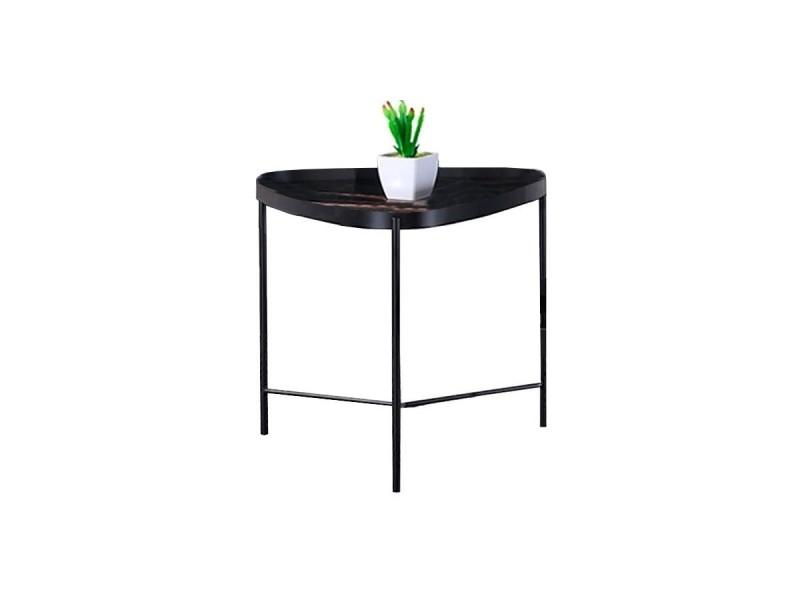 Table d'appoint marbre pinto - noir - noir