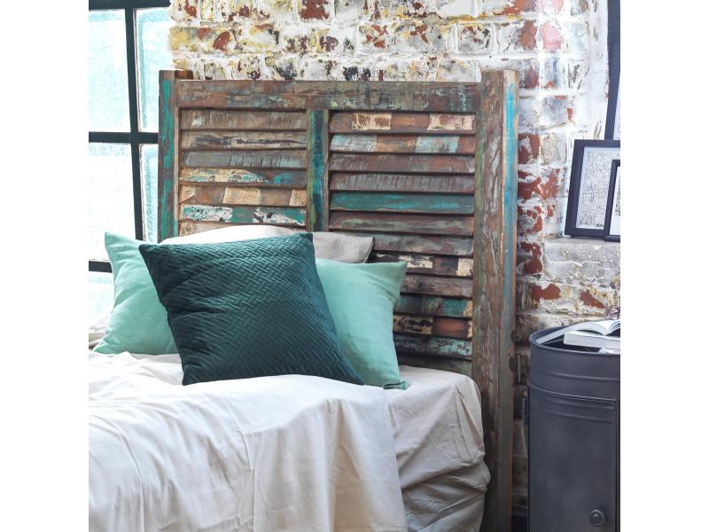 tete de lit en bois de manguier 100cm mk45 bois colores. Black Bedroom Furniture Sets. Home Design Ideas