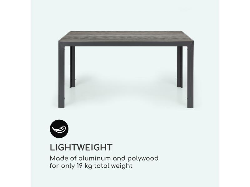 Blumfeldt bilbao table de jardin - 150 x 90 cm - imitation bois ...