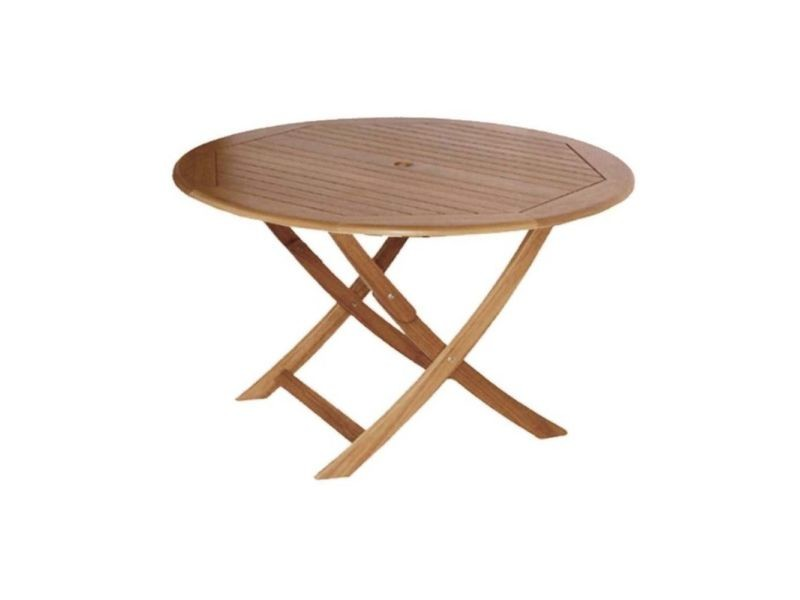 Table en eucalyptus sophie 120 cm