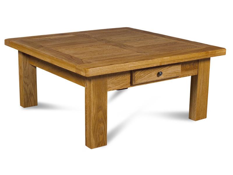 Table basse carrée rustique chêne manoir
