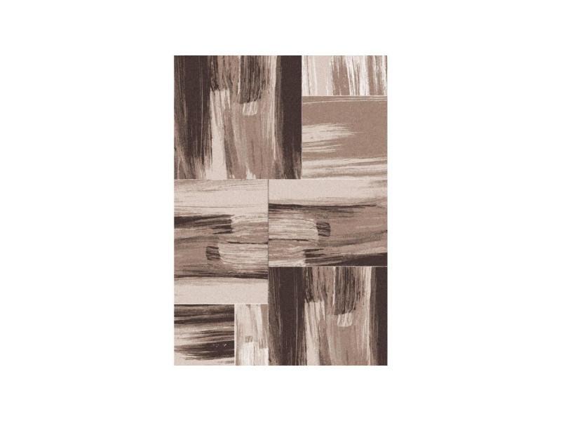 Tapis De Salon Lima 350 Beige Et Marron 80x150 Cm Conforama