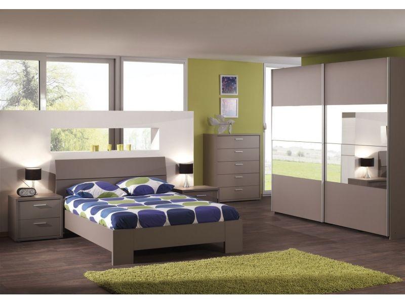lit 160x200 cm avec t te de lit int gr e coloris gris basalte p 572 co stanley vente de lit. Black Bedroom Furniture Sets. Home Design Ideas