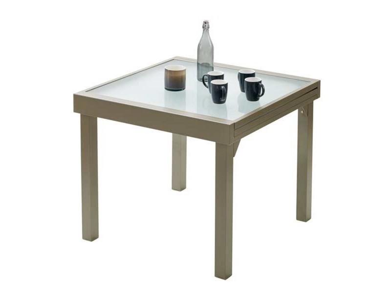 Table de jardin 90/180 modulo 8 taupe W_603180 - Vente de WILSA ...