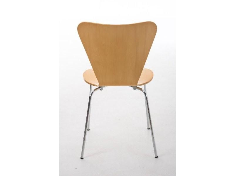 Lot de 4 chaises de séjour bureau en bois et métal cds10108