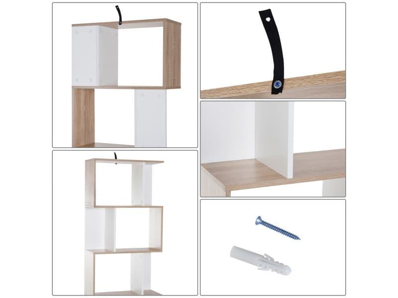 biblioth que tag re meuble de rangement design contemporain en s 5 tag res 60l x 24l x 185h cm. Black Bedroom Furniture Sets. Home Design Ideas