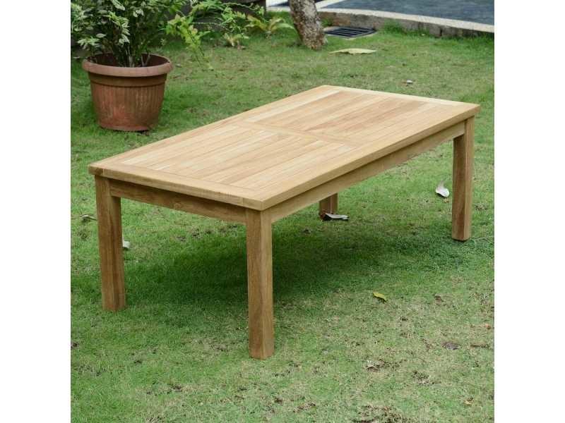 Table basse rectangulaire en teck ecograde coffee 120 x 60 cm Teck massif de qualité Ecograde©