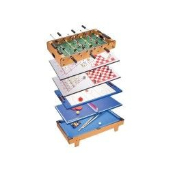 Table jeux multiples 8 en 1  (baby-foot. Billard. Echecs...) 82cm