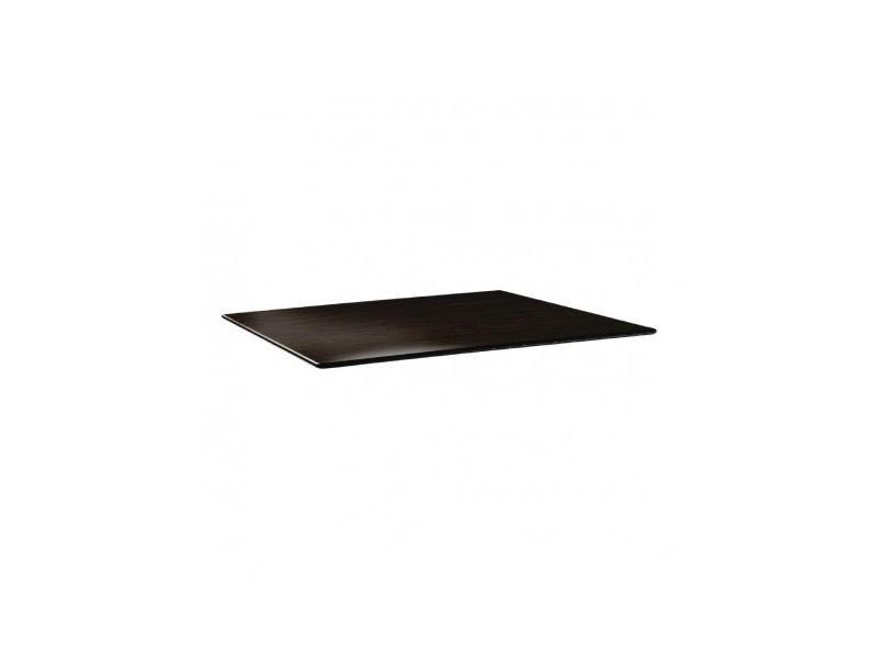 Plateau de table wengé rectangulaire 120 x 80 cm - topalit - bois
