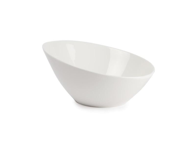 Bols inclinés ovales 630ml lumina - lot de 6 - 0 cm porcelaine 63 cl