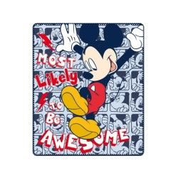 Mickey plaid couverture polaire