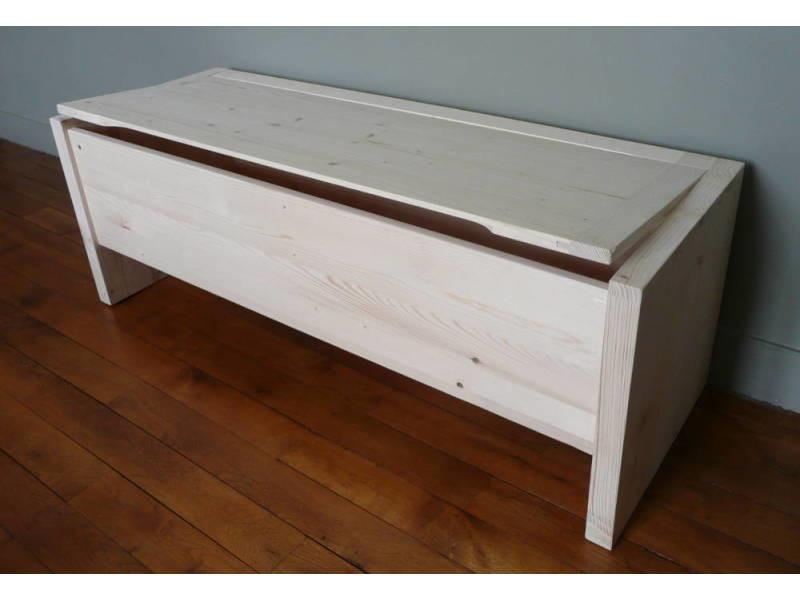 coffre de rangement en bois brut vente de coffre et. Black Bedroom Furniture Sets. Home Design Ideas