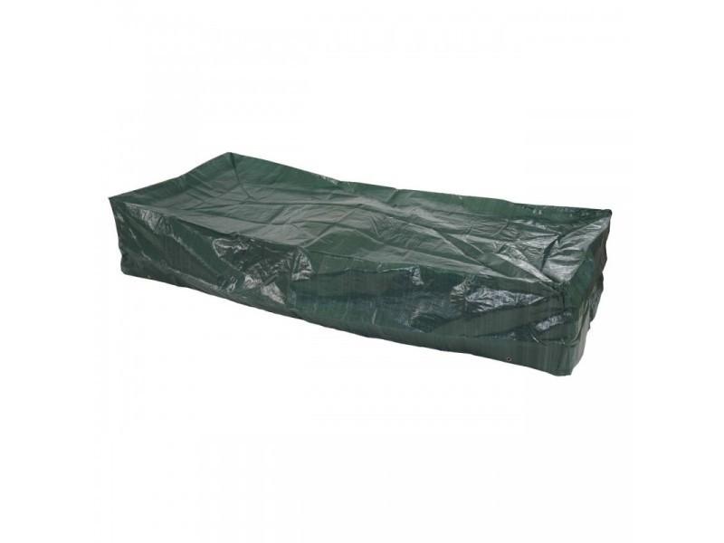 Housse de protection bâche pour transat de jardin 200x85x40 cm mdj04061