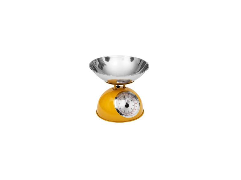 Balance mécanique - 21 x 24,5 cm - métal - jaune