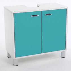 Meuble Dessous de Lavabo -  L. 56 x l. 60 cm - Turquoise