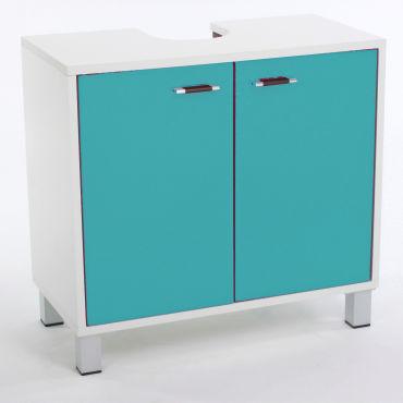 meuble dessous de lavabo l 56 x l 60 cm turquoise. Black Bedroom Furniture Sets. Home Design Ideas