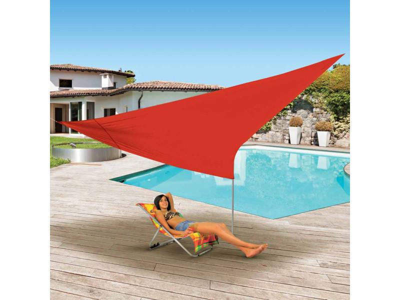 Voile d\'ombrage triangulaire 5x5x5 m - rouge - Vente de OSE - Conforama