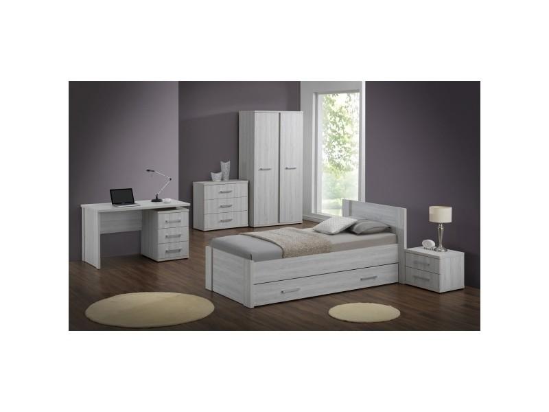 bureau enfant 130 cm monika l 130 x h 76 5 x p 70 cm ch ne gris vente de bureau conforama. Black Bedroom Furniture Sets. Home Design Ideas