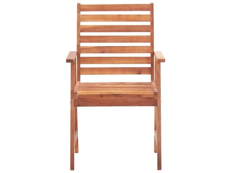 Vidaxl chaises de salle à manger d'extérieur 2pcs bois d'acacia massif 46312