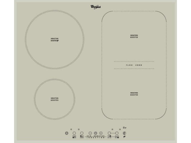 Whirlpool acm 808/ba/s plaque gris intégré (placement) 60 cm plaque avec zone à induction 4 zone(s)