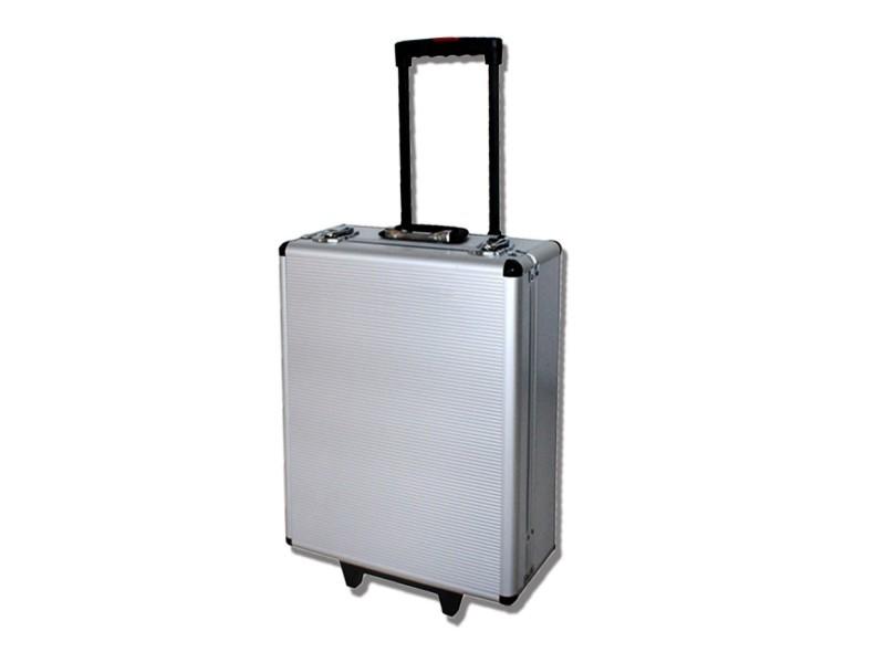 Valise de bricolage, malette à outils, avec mallette en aluminium et poignée télescopique, 251 outils, matériau: acier au carbone 3700778707480