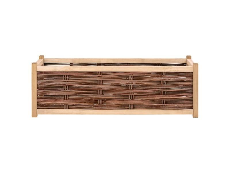 Icaverne - pots et cache-pots categorie lit surélevé de jardin 120x40x40 cm bois de pin massif