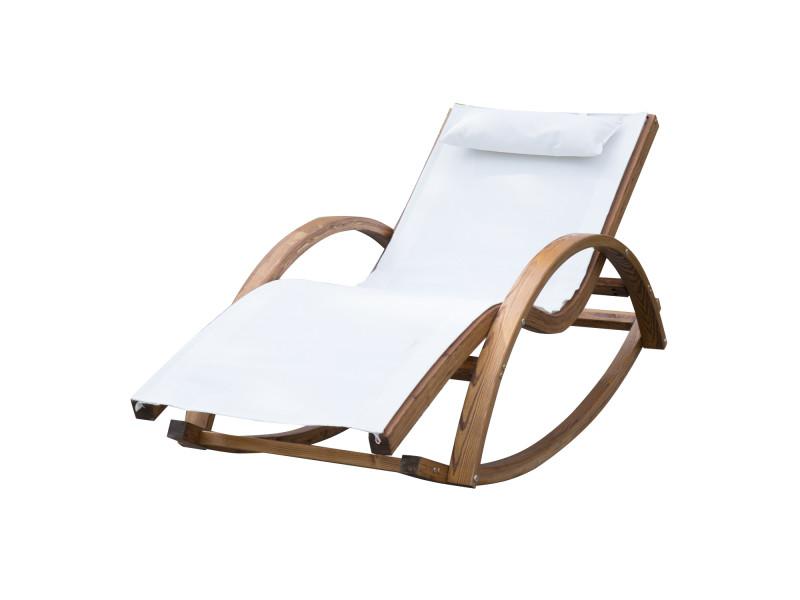 Chaise longue fauteuil ber ante bascule transat bain de for Transat conforama