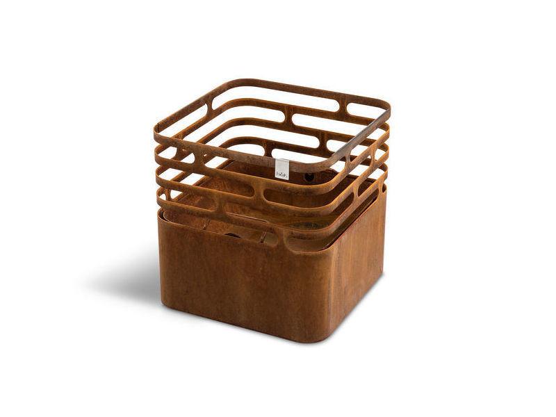 Brasero höfats cube rouille