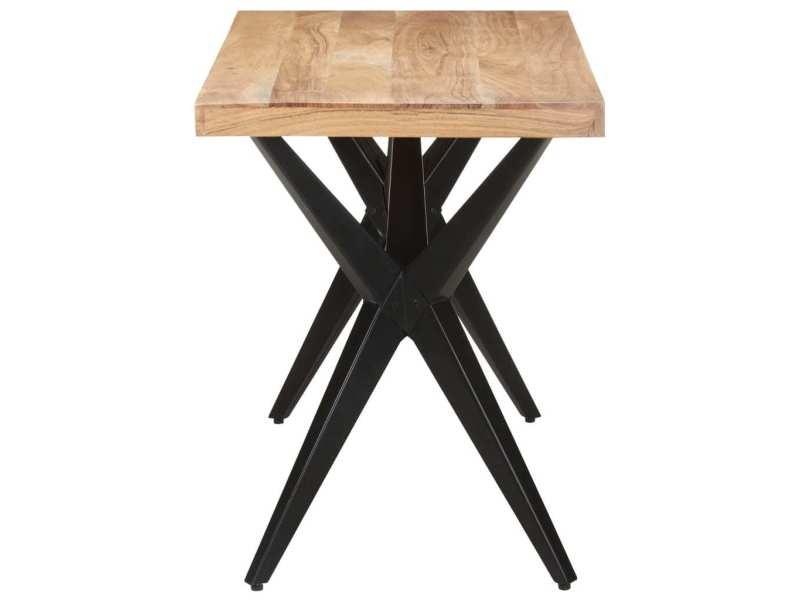Vidaxl table de salle à manger 120x60x76 cm bois solide d'acacia 323559