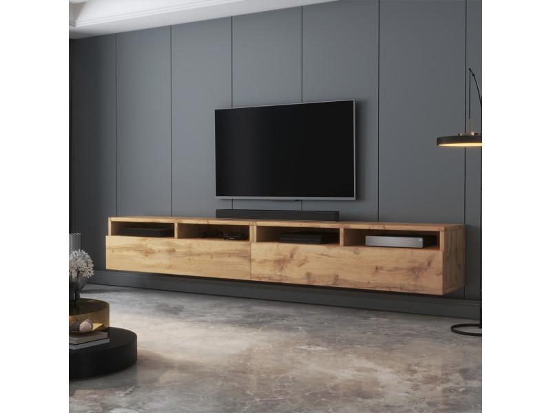 Meuble tv - rednaw - 200 cm - chêne wotan