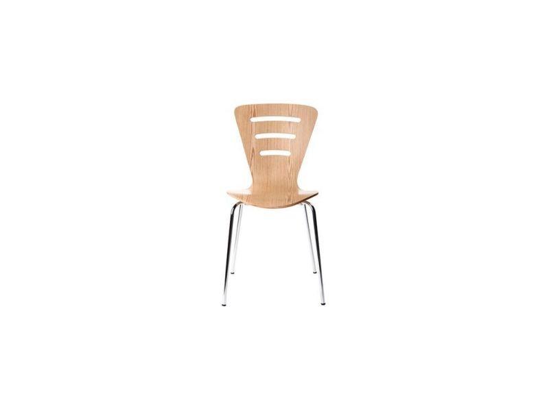 Chaises De 2 Vente Lot Empilables Naturel Design Bois Lena De9EY2WHI